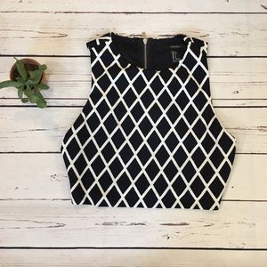 Forever 21 Tops - {Forever 21} Structured Cropped Top